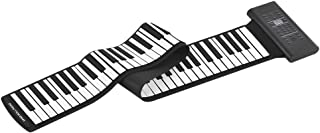 ammoon 88鍵のロールアップピアノ 電子キーボード シリコン 内蔵ステレオスピーカー 1000mAリチウムイオン電池 MIDI OUTマイクのオーディオ入力機能をサポート サスティンペダル付き