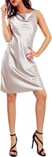 Toocool - Vestito Donna Mini Abito Raso Elegante Cerimonia Sexy Sottoveste VI-0090