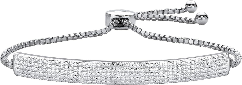 18K 国内即発送 Yellow Gold Plated 大注目 or Silvertone Genuine Adju Accent Diamond