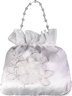Elegante Satin Brautbeutel Handtasche Blumenmädchen Braut Tasche Dolly Bag - #1