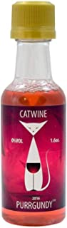Pet Winery CatWine - 1.6 Ounce Single Serving Bottle of Purrgundy All-Natural Catnip Wine - Non-Alcoholic, Liquid Catnip Treat | Use As Food Topper, Freeze, or Drink As Is (1 Bottle)