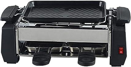 NHJUIJ Gril Raclette À Raclette Plaque De Gril Antiadhésive Amovible pour Un Nettoyage Facile pour 1 À 2 Personnes avec 2 ...