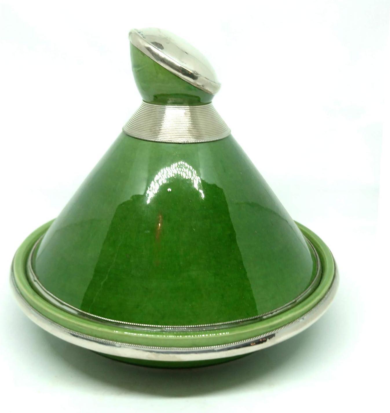Tagine Marwan - Différentes couleurs - Tagine en céramique peinte à la main - Tajine oriental Noir Noir