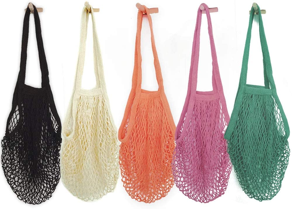 Cotton Market Bag Reusable Shopping bag Crochet Bag French market bag Beach bag Eco friendly bag Handmade cotton bag Tote Bag