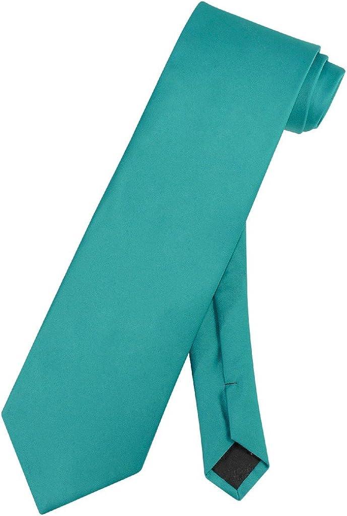 Vesuvio Napoli NeckTie Max 85% OFF famous Solid TEAL Color Men's Gre Tie Neck Aqua