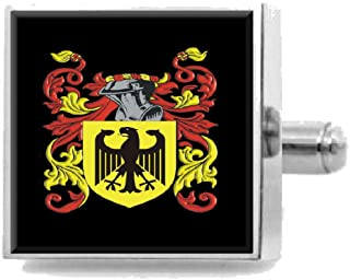 Select Gifts Wingate England Family Crest Surname Coat Of Arms Tie Clip Engraved In Pouch