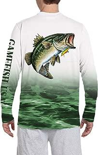 UPF 50+ Microfiber Moisture Wicking Long Sleeve Performance Bass Fishing Shirt