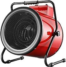 Calefactor Industrial,Termoventilador Portátil 380V/9KW,Tubo Calefactor Eléctrico De Acero Inoxidable,Ajuste de Potencia de 3 Velocidades,para Fábricas, Invernaderos, Granjas