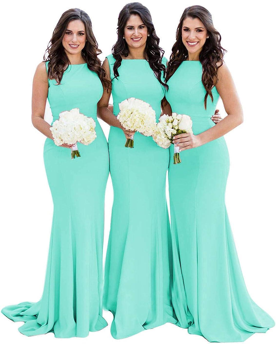 Mermaid Bridesmaid Dresses 優先配送 メイルオーダー Long Formal Pa Wedding Backless Gowns