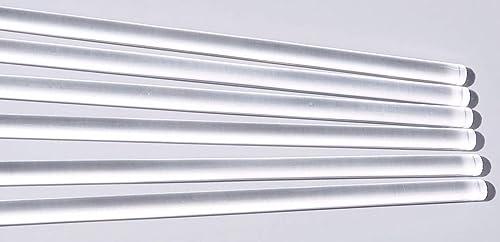 H D P E PLASTIC ROD 40 mm Diameter x 500 mm,1//2 a metre long WHITE COLOR