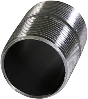 """Everflow Supplies NPBL3400 Zamknij czarny stalowy łącznik do sutków z nominalnym rozmiarem średnicy 3/4"""""""