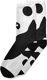 CaTaKu Abstrait Animal Exotique Panda Chaussettes Doux, Respirant et Durable Chaussette d'équipage pour Homme et Femme
