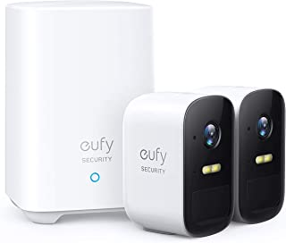eufy Security, eufyCam 2C Wireless Home Security Camera System, 180-Day Battery Life, HD 1080p, IP67 Weatherproof, Night V...