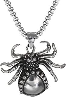 Spider Pharaoh Whistle Michigan Bird Skull Necklace Stainless Steel Jewelry with Gift Box