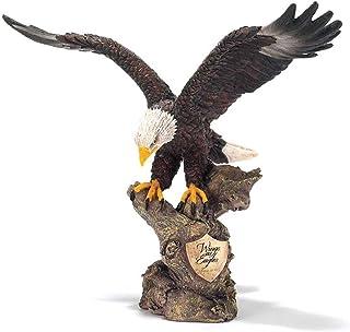 Dicksons Wings as Eagles ゴールデンシールドイザヤ40:31 装飾8インチ ブロンズ仕上げ 樹脂ストーン置物...