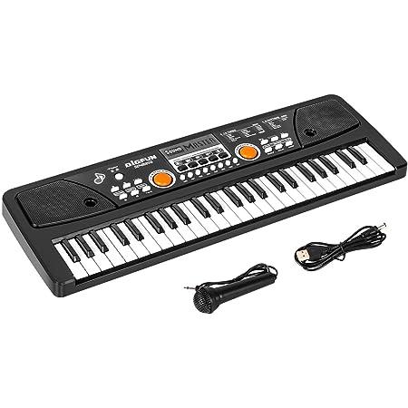 Teclado Piano 49 Teclas, Piano Electrónico con micrófono, Electrónico Música Teclado Piano Cumpleaños Regalos del día de Navidad Edad para Niños de 3 ...