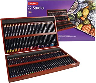أقلام رصاص ملونة من ديروينت، 72 استوديو، كور 3.4 مم، صندوق خشبي، 72 قطعة (32199)