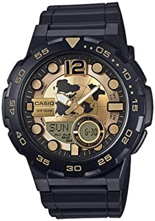 Casio Casual Watch For Men Analog Resin - AEQ-100BW-9A
