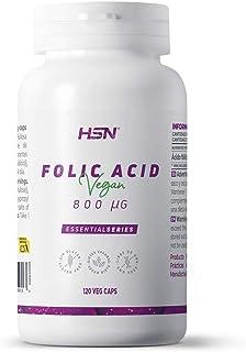 Ácido Fólico (Vitamina B9) de HSN   800 mcg   Suministro para 4 Meses   Vitaminas y minerales Prenatales   Esencial en los...