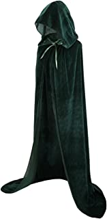 Unisex Full Length Velvet Hooded Cape Halloween Christmas Cloak