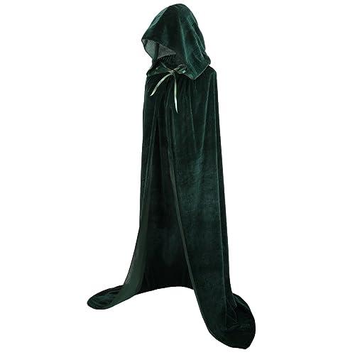 Colorful House Unisex Full Length Velvet Hooded Cape Halloween Christmas  Cloak 7c40173ef