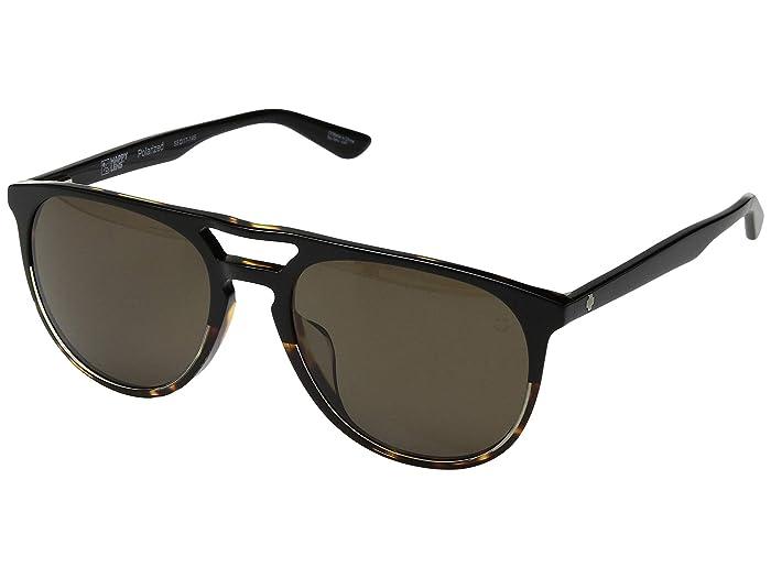 Spy Optic Syndicate (Black/Tortoise/Happy Bronze Polar) Athletic Performance Sport Sunglasses