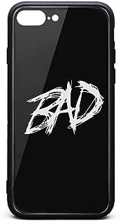 Gwende Zeno iPhone 7 Plus Case/iPhone 8 Plus Case XXXTentacion's-Posthumous-Single-Bad 9H Tempered Glass Back Cover Soft TPU Bumper Compatible for iPhone 7 Plus/8 Plus