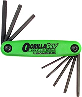 Bondhus 12632 GorillaGrip, Set of 8 Star Fold-up Keys, sizes T6-T25