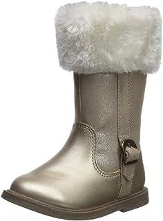Carter's Girls' Tampico Fashion Boot, Gold, 8 M US Toddler
