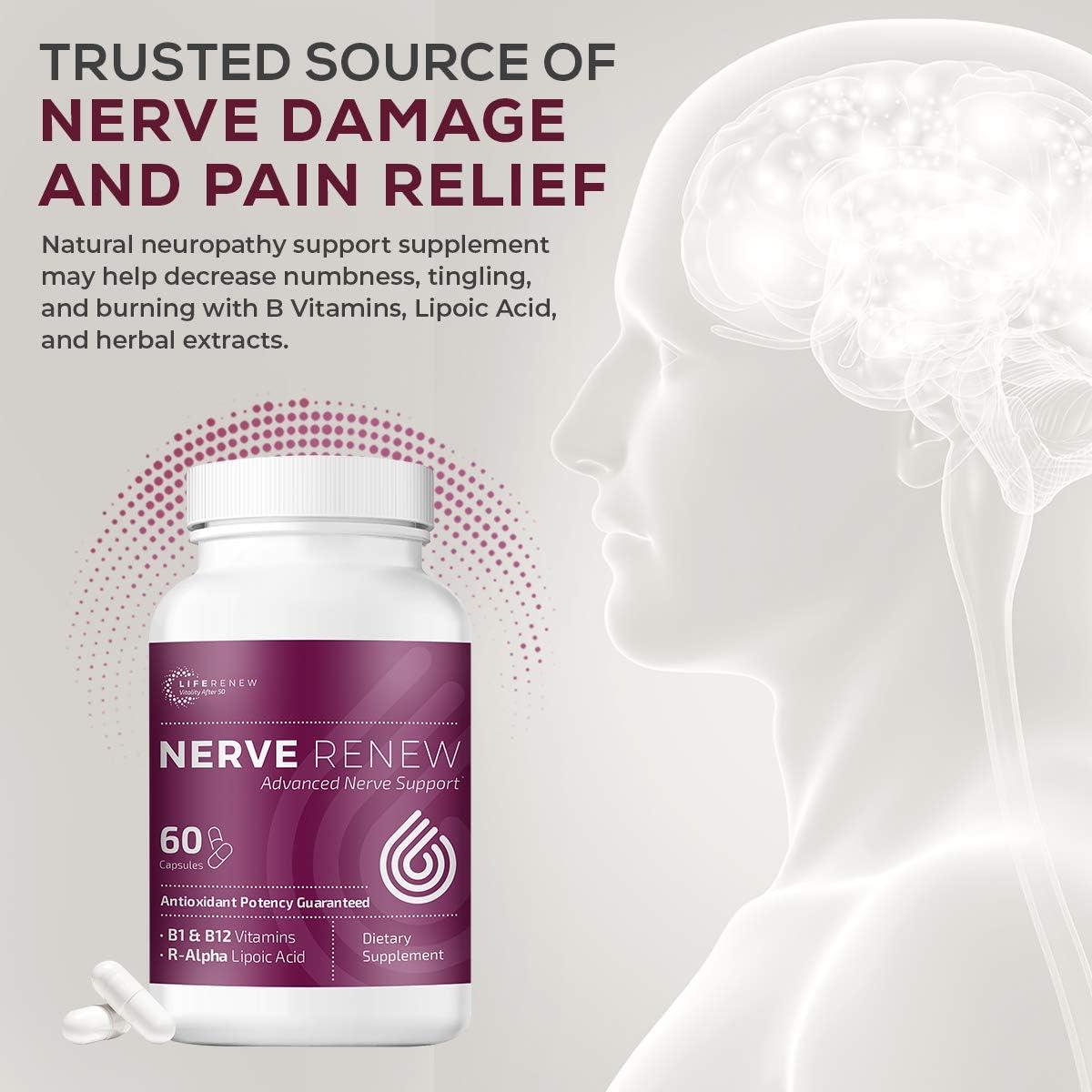 Amazon.com: Life Renew: Nerve Renew Advanced Nerve Support - Alternative  Nerve Pain Relief with Alpha Lipoic Acid and Vitamin B Complex - 60  Capsules - Antioxidants: Health amp; Personal Care