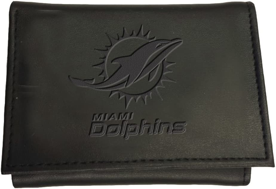 Team Sports America Miami Leather Tri-Fold Wallet Dolphins Lowest service price challenge