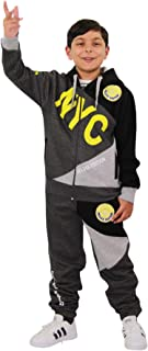 Kids Boys Tracksuit NYC DLX Project Print Hoodie & Bottom Jog Suit Age 7-13 Year