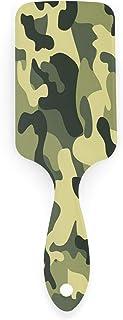 Elemento de camuflaje Bandera de América Espalda Cepillo de pelo vintage Antiestático Cojín de aire Peine de peinado Cepillo de pelo Alfileres de nailon de plástico Cepillos para secador