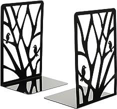 STOBOK 2Pcs Decorativo Do Metal Suporte Para Livros Estante de Livros Desktop Organizador Do Livro para O Escritório Em Ca...