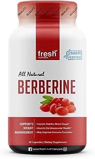 Berberine 500mg with Added Chromium – NMR Verified Berberine Supplement - Immune Support, Glucose Metabolism (Blood Sugar)...