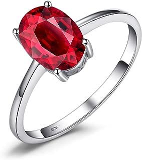 Natural Gemstones Garnet Peridot Amethyst Citrine Blue Topaz Birthstone Solitaire Rings For Women For Girls 925 Sterling Silver