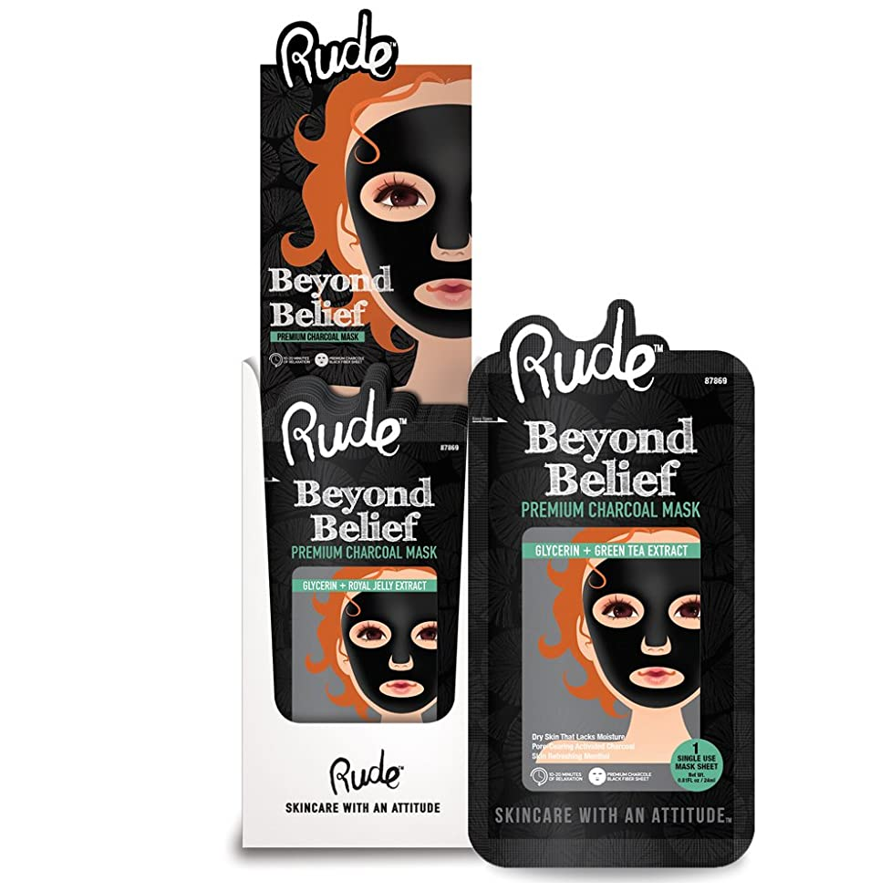 軽減フィットネス見つけるRUDE Beyond Belief Purifying Charcoal Mask Display Set, 36 Pieces (並行輸入品)