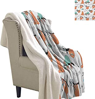 sunsunshine Sloth Cozy Blankets and Throws Pattern with Cute Hand Drawn Sloths on Branches Laziness Mood Quotes Fun Blanket Small Quilt 60x78 Inch Orange Pale Blue Black