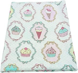 una pieza 50cm * 160cm torta impresa tela de algodón,telas para hacer patchwork, telas tilda, retales de telas, tela algodon por metros