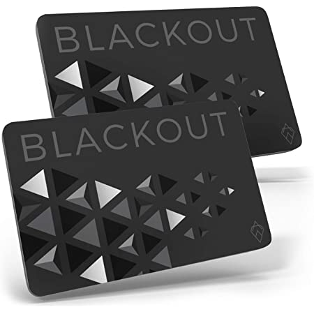 Blackout by AKIELO – Ultra Thin RFID Blocking Card (2 x Pack) – The Single Solution to Contactless Card Protection – The Ultimate RFID Card Protector for Your Wallet or Purse…