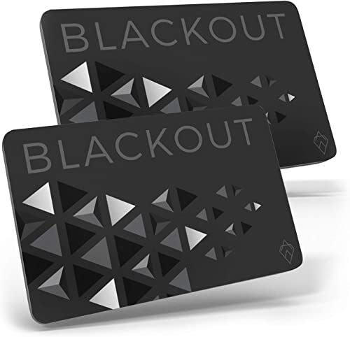 Blackout by AKIELO – Ultra Thin RFID Blocking Card (2 x Pack) – The Single Solution to Contactless Card Protection – ...