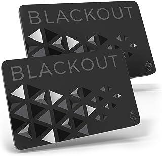 Blackout de AKIELO – Tarjeta de Bloqueo RFID Ultrafina (2 Piezas) – Solución Simple para la Protección de Tarjetas de Créd...