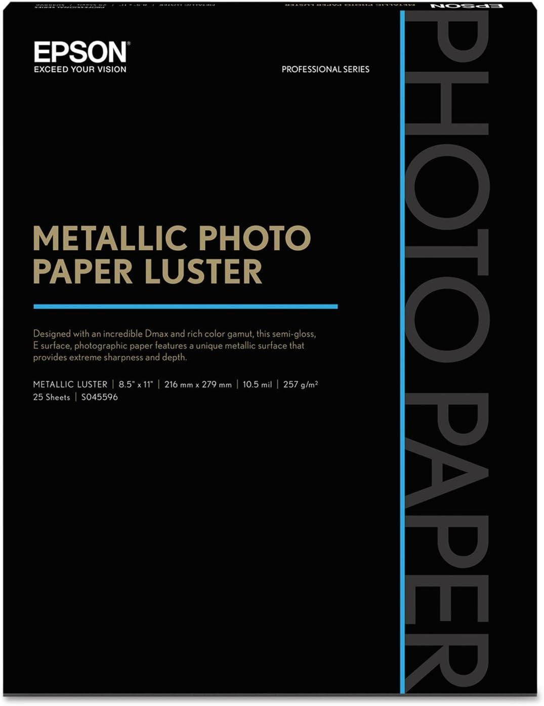 - Professional At the price of surprise Minneapolis Mall Media Metallic Photo Paper 8 x White 2 1 Luster