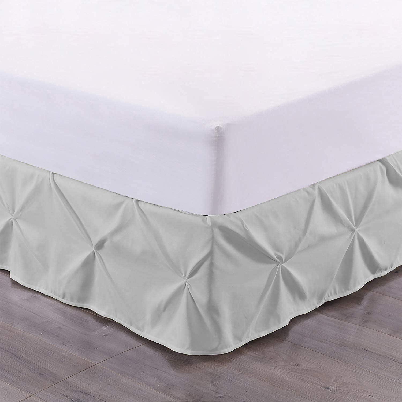 Pinch Pleated SALENEW very popular Colorado Springs Mall Bed Skirt - Split Corner Pintuck Pleat S