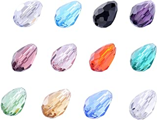 wanjin Wholesale Lot 720pcs Teardrop 4x6mm Crystal Beads 12 Colors with Storage Box