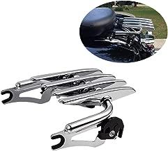 XFMT Chrome Detachable Stealth Luggage Rack Compatible with Harley HD Touring Road King Glide FLHR FLHRC FLHT FLHX FLTR FLHTC FLHTCU FLHTK FLTRU FLTRX 2009-2020