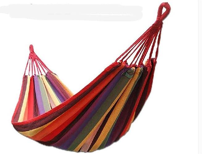 MONEYY Des hamacs outdoor célibataires dans une toile double épaisseur swing intérieur dortoir dortoir camping hamacs ,anti-basculement 190150cm,