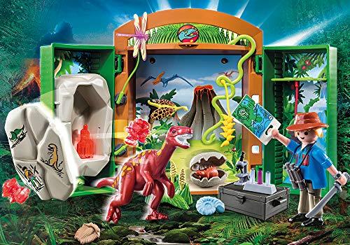 Maletín dinosaurio y explorador en la selva Playmobil - Dinos (70507)