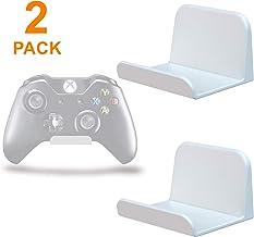 sciuU Soporte de pared para Auriculares / Mando, [Conjunto de 2] Gancho Adhesivo 3M, Colgar los Auriculares, Accesorios para Controller Controlador Gamepad de Xbox / PS4, Sin Tornillos - Blanco