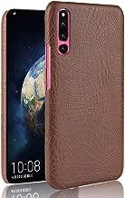 Yanjianhon-Phone Case Luxury Classic Crocodile Skin Pattern [Ultra Slim] PU Leather Anti-scratch PC Protective Hard Case Cover for Huawei Honor Magic 2 Stylish (Color : Brown)